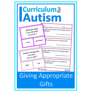 Social Skills Giving Appropriate Gifts clip cards & worksheets